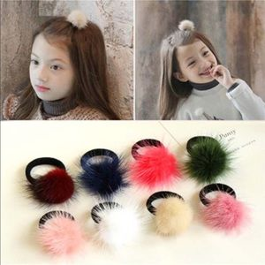 Natural mink fur hair accessories